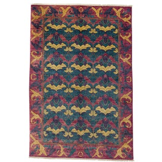 "Arts & Crafts, Hand Knotted Area Rug - 6'2"" X 9'"