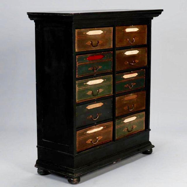 Late 19th Century Antique French Ebonized Oak Linen Chest - Image 5 of 8