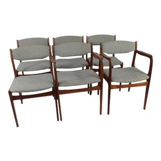 Danish Teak Dining Chairs- Set of 6