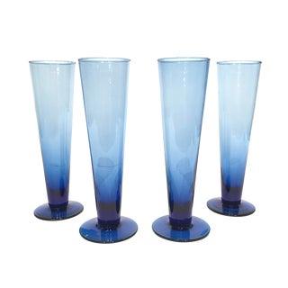 Cobalt Blue Pilsner Glasses - Set of 4