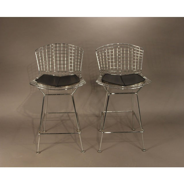 Image of Harry Bertoia Knoll Wire Stools - Pair