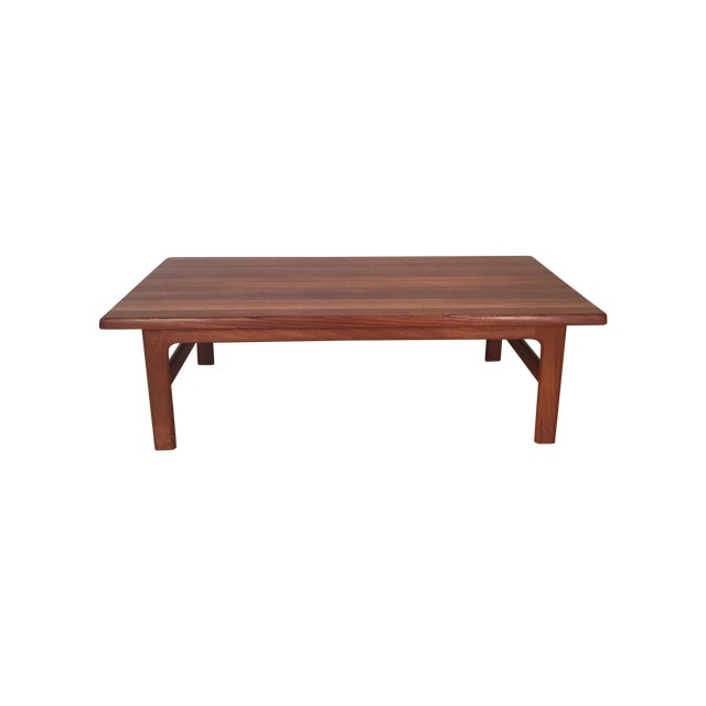 Solid Teak Danish Modern Coffee Table - Image 1 of 6