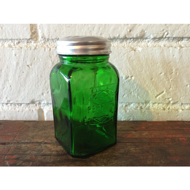 Green Depression Glass Pepper Shaker - Image 2 of 5