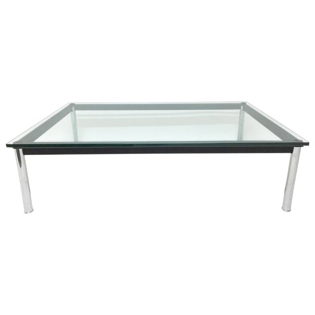 Cassina Lc10 P1 Square Glass Coffee Table Chairish