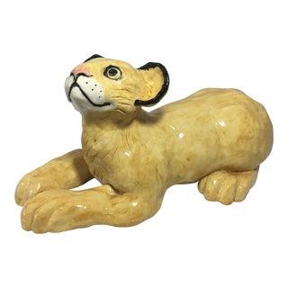 Large African Lion Cub Sculpture
