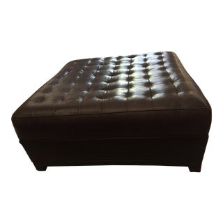 Tufted Square Leather Ottoman