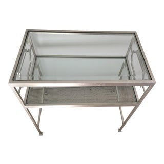 Worlds Away Brushed Nickel Side Tables