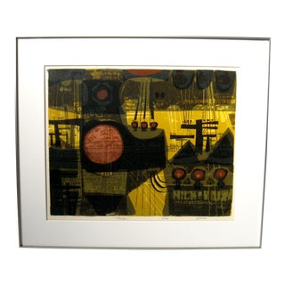 1960s David Weidman Polescape Silk Screen