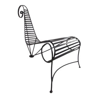 Contemporary Modern Andre Dubreuil Style Decorator's Chair