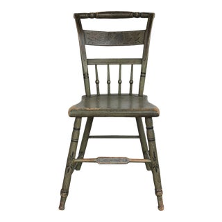 Green Painted American Side Chair