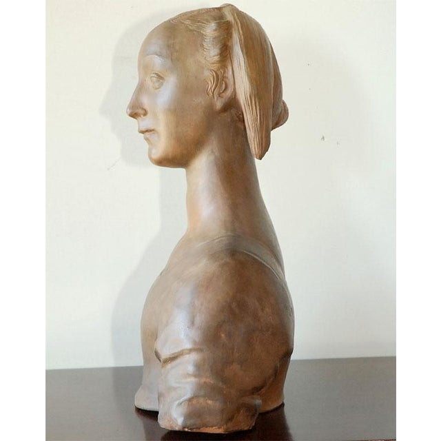 Renaissance Style Italian Bust of a Woman #2 - Image 6 of 8