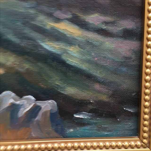 Abstract Seaside Landscape Painting Pacific Grove - Image 7 of 11