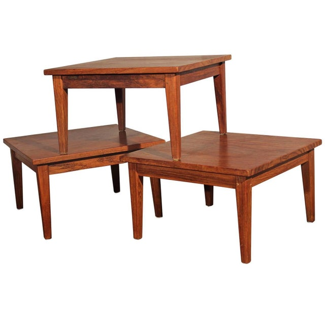 Mid-Century Stackable Rosewood Tables - Set of 3 - Image 1 of 9