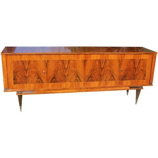 French Art Deco Exotic Walnut Sideboard