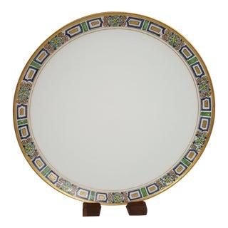 Gold Trimmed Haviland China Limoges Art Deco Plate