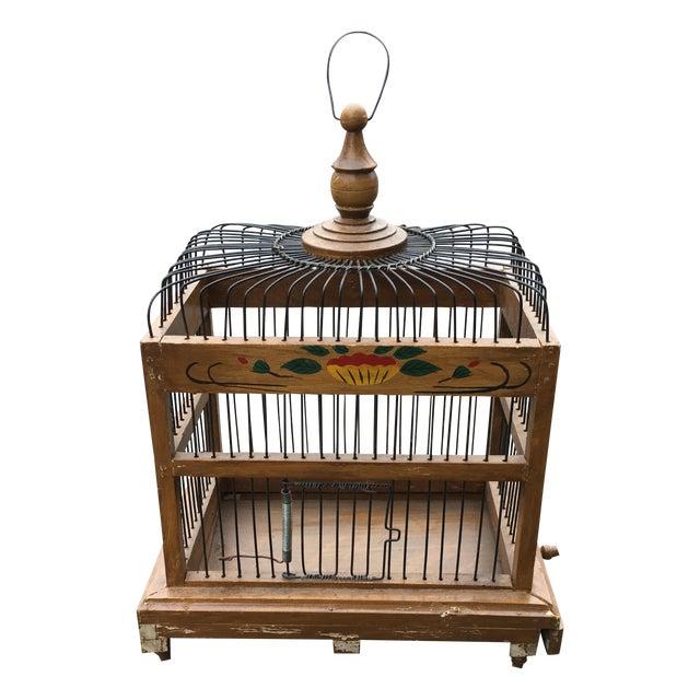 Mid-Century Bird Cage - Image 1 of 7