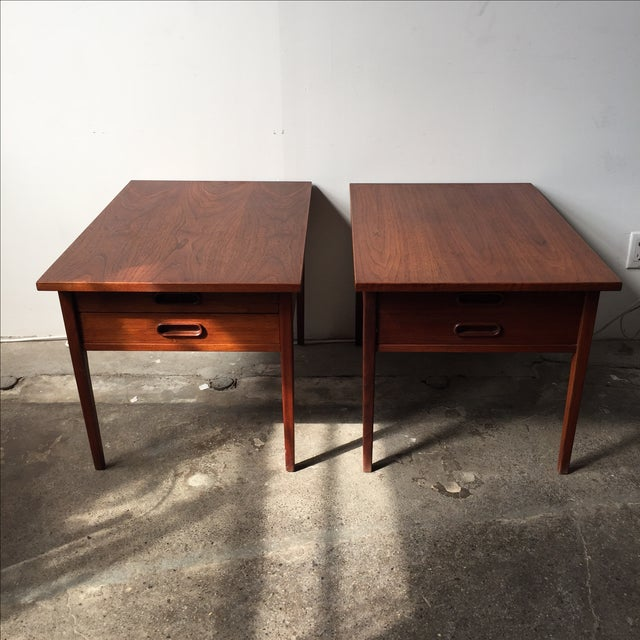 Teak Mid-Century Side Tables - Pair - Image 3 of 10