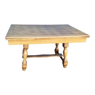 Golden Oak Extendable Dining Table