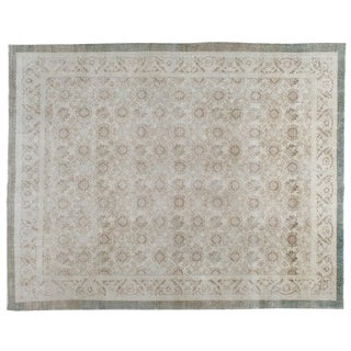 "Vintage Turkish Sivas Distressed Rug - 8'8"" X 10'10"""