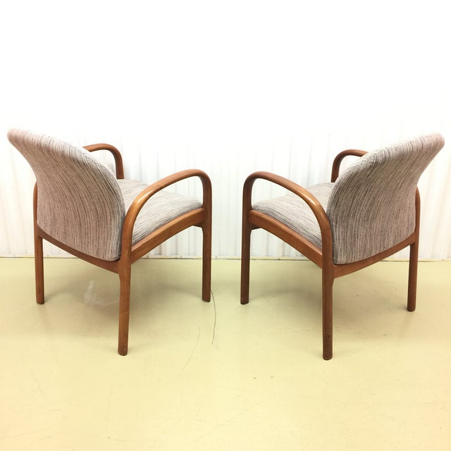 Mid-Century Gunlocke Walnut Chairs - A Pair - Image 5 of 11
