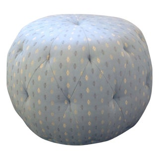 Cisco Home Blue Patterned Pouf