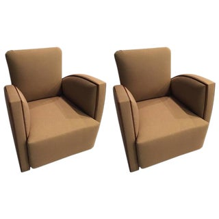 French Art Deco Club Chairs - A Pair