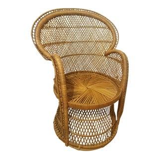 Short Back Peacock Wicker Chair