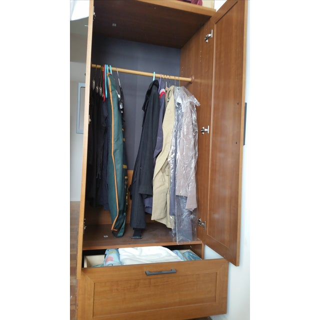 Image of Sienna Oak Finish Wardrobe Armoire