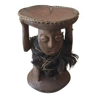 Vintage African Wood Carved Statue