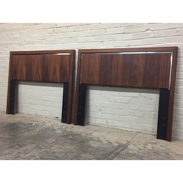 Dillingham Twin Headboards by Milo Baughman - Pair - Image 6 of 8