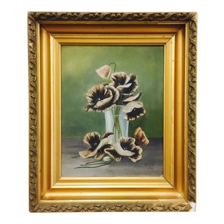 Antique Floral Still Life Painting