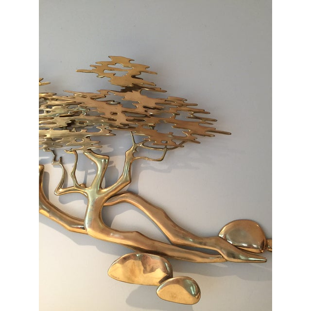 Mid-Century Bijan Brass Wall Sculpture - Image 4 of 6