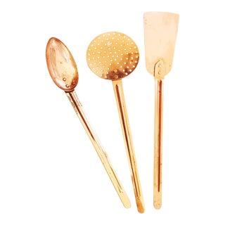 Vintage Copper Cooking Utensils - Set of 3