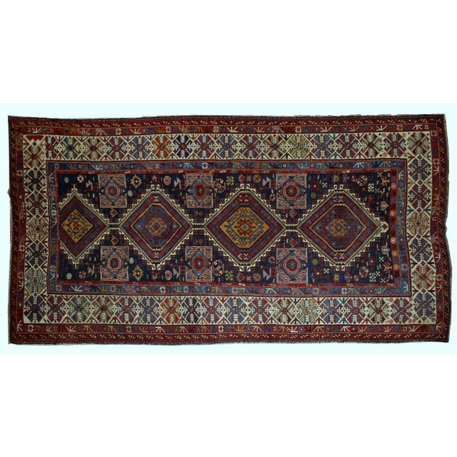Antique Caucasian Shirvan Rug- 4′9″ × 7′10″ - Image 6 of 10