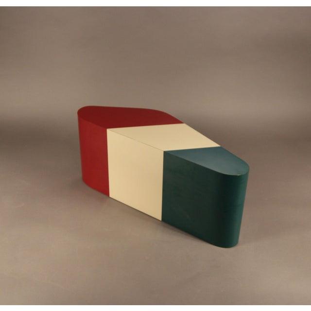 Image Of Italian Flag Kidney Shaped Coffee Table