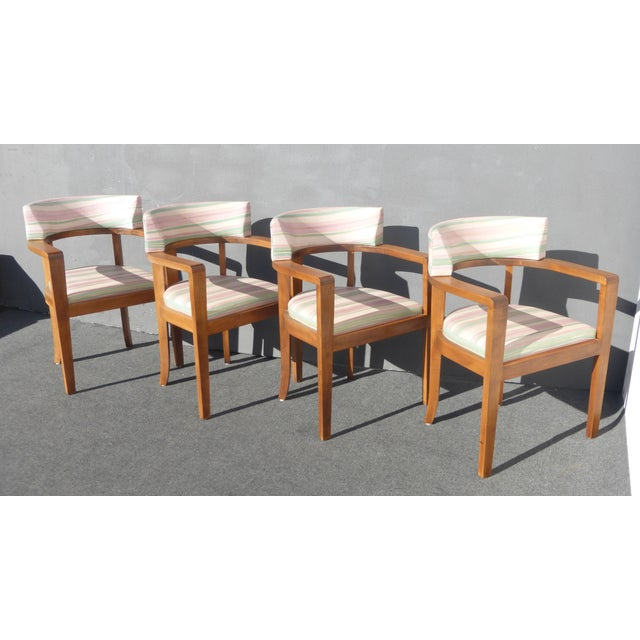 Mid-Century Danish Modern Leather Arm Chairs - 4 - Image 3 of 11