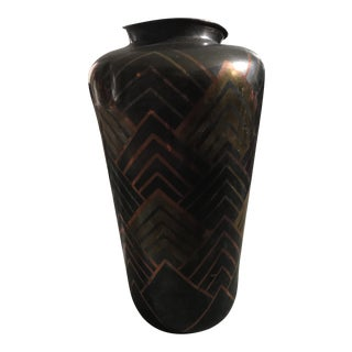 Art Deco Brass Vase