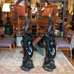 Image of Black Panther Floor Lamps - Pair