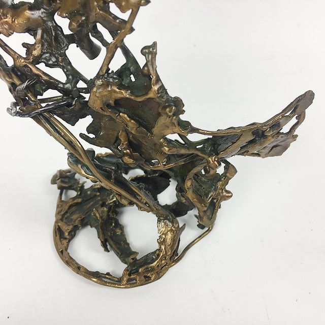 Ben Kupferman Bronze Sculpture With Malachite - Image 5 of 6