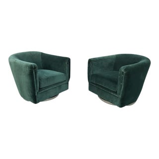 1970s barrel swivel chairs by Pace Collection