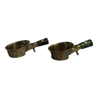 Brass Chinese Silk Irons - A Pair