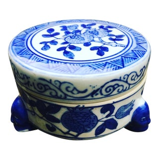 Vintage Blue and White Chinoiserie Decorative Box