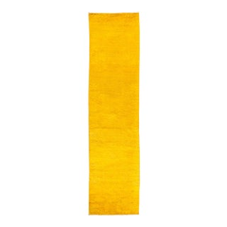 """Yellow Hand Knotted """"Vibrance"""" Runner Rug - 2' 7"""" X 10' 3"""""""