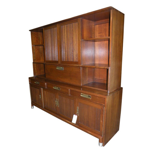 Willett Trans East Mid Century Bookcase Cabinet - Image 1 of 7