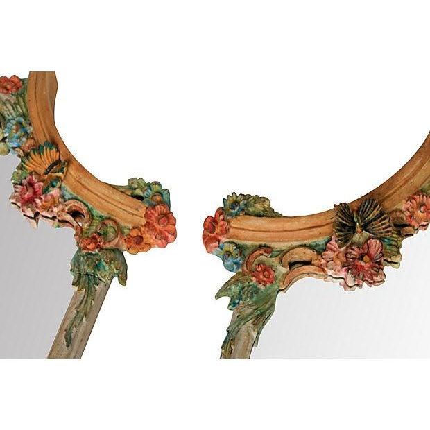 Hand-Painted Italian Mirrors - Pair - Image 7 of 9