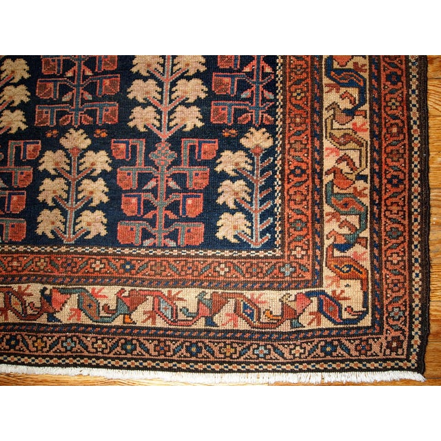 1880s Hand Made Antique Persian Kurdish Rug - 2′10″ × 5′10″ - Image 4 of 6