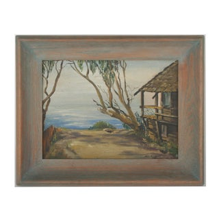 Beach Cottage Original Oil Painting