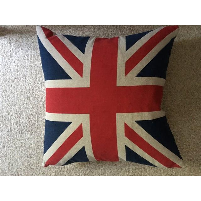 Vintage British Union Jack Flag Pillow - Image 2 of 5