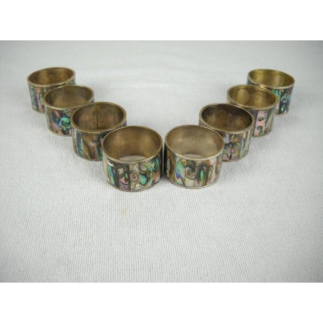 Abalone Shell Napkin Rings - Set of 8 - Image 4 of 8