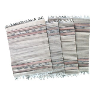 Vintage Navajo Tribal Fringed Placemats - Set of 4